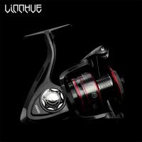 LINNHUE Рыболовная Катушка для спиннинга с металлической шпулей. Ручка из нержавеющей стали. Максимальный вес рыбы 8 кг